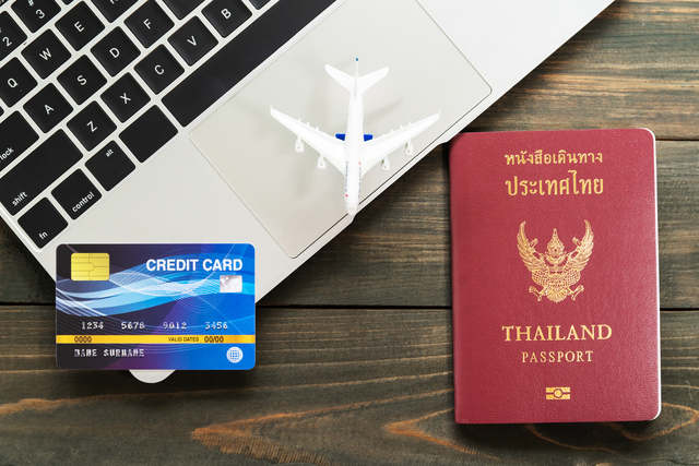 Passport with  credit card