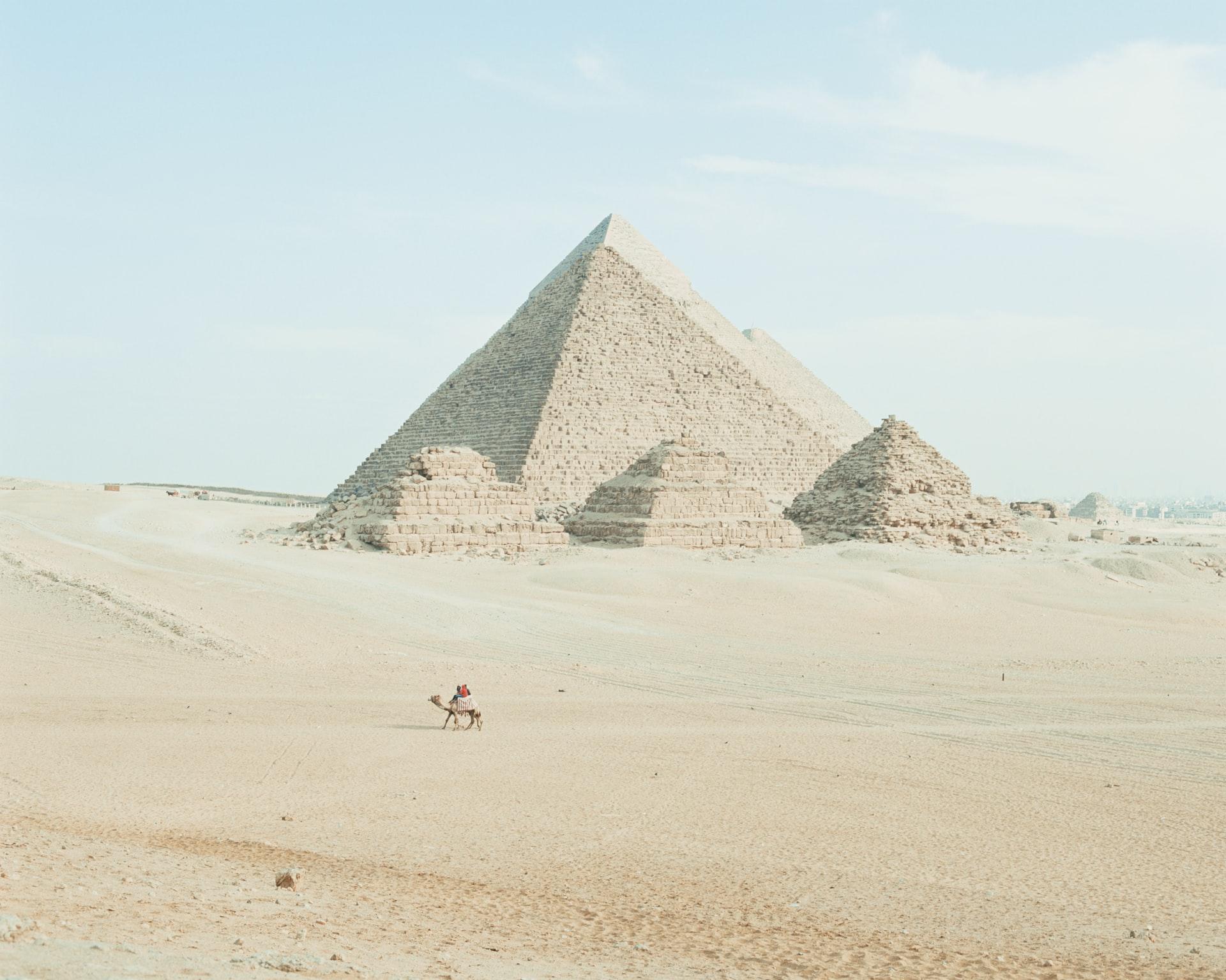 The great pyramids of Giza, Cairo, Egypt